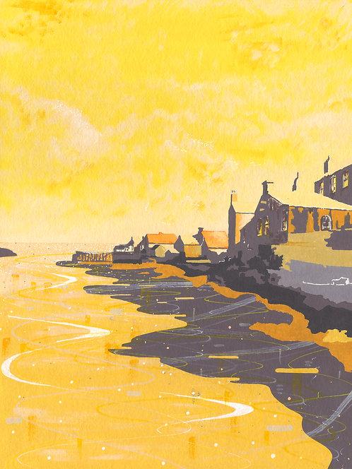 'Lerwick, Shetland' Original painting. Acrylic on paper. 30x40 cm.