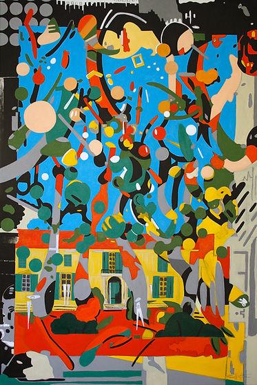 Arles Acrylic painting on canvas 80cm x 120cm x 4cm  - Rian Hotton