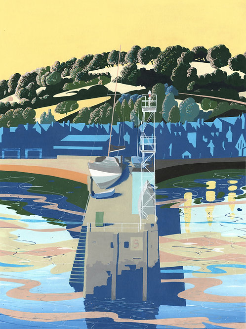 'St. Aubin's Harbour' Limited Edition Giclee Print 57cm x 43cm