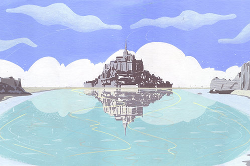 'Normandy and Britanny' Limited Edition Giclee Print 90cm x 40cm