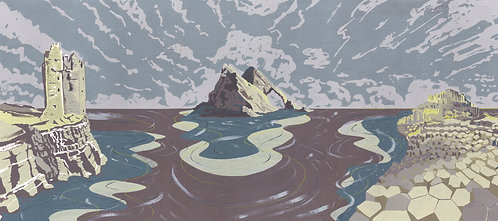 'British Isles III' Limited Edition Giclee Print 90cm x 40cm
