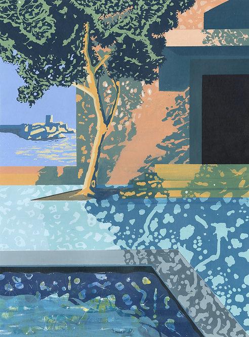'St. Aubin's Fort' Limited Edition Giclee Print 43cm x 57cm