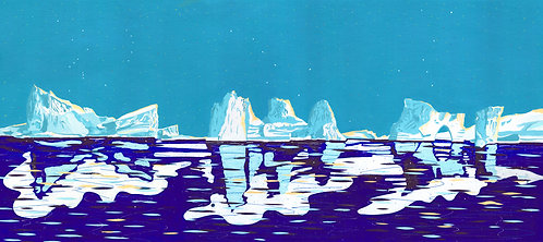'Greenland Iceflow' Limited Edition Giclee Print 90cm x 40cm