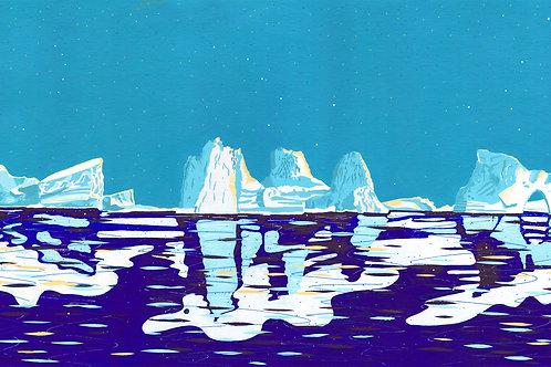 'Greenland Iceflow' Limited Edition Giclee Print 90cm x 40cm