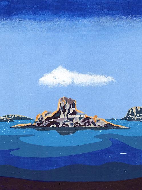 'Greek Islands II' Original painting. Acrylic on paper 30 x 40cm