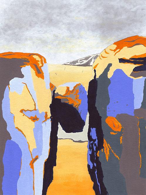 'Norwegian Peaks II' Limited Edition Giclee Print 30cm x 40cm