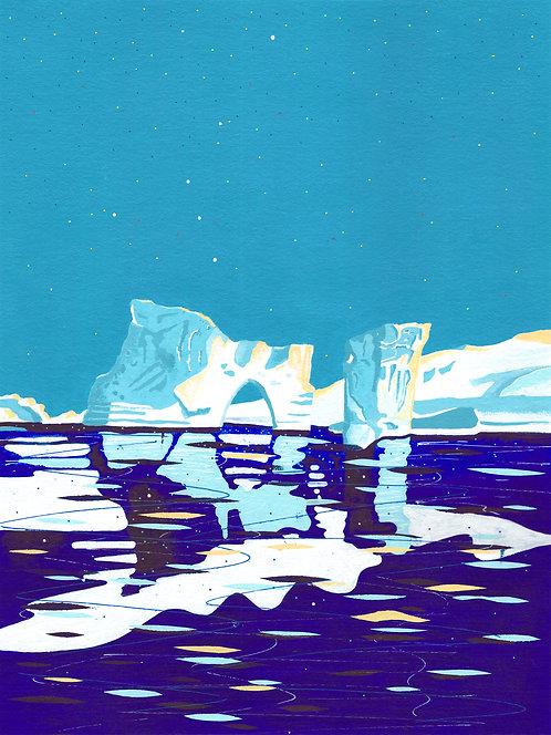 'Greenland Ice sheet III' Limited Edition Giclee Print 30cm x 40cm