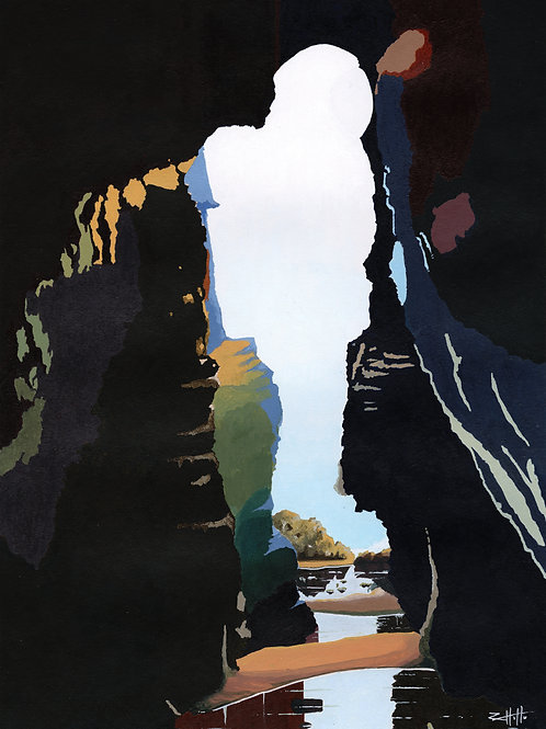 'Plemont' Limited Edition Giclee Print 30cm x 40cm