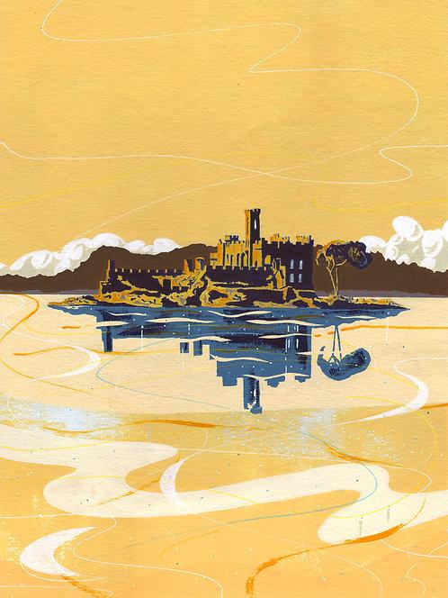 'McDermott's Castle, Rocommon' Original painting. Acrylic on paper. 30x40 cm.