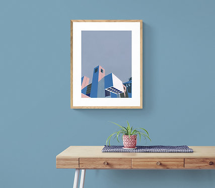 'Barbican I' Limited Edition Giclee Print 30cm x 40cm