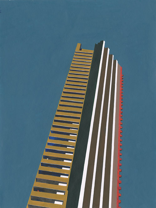 'Barbican Tower' Limited Edition Giclee Print 30cm x 40cm