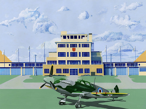 'Jersey Airport '45' Limited Edition Giclee Print 43cm x 57cm