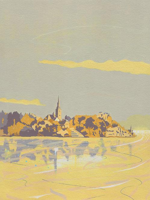 'Lake Bled, Slovenia' Limited Edition Giclee Print  30cm x 40cm