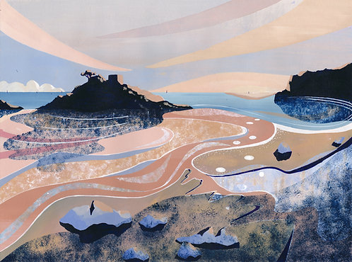 'Portelet Bay' Limited Edition Giclee Print 30cm x 40cm