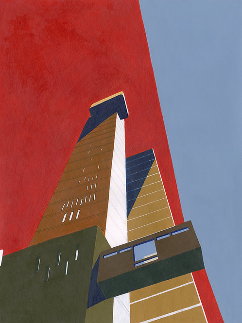 'Trellick Tower' Limited Edition Giclee Print 30cm x 40cm
