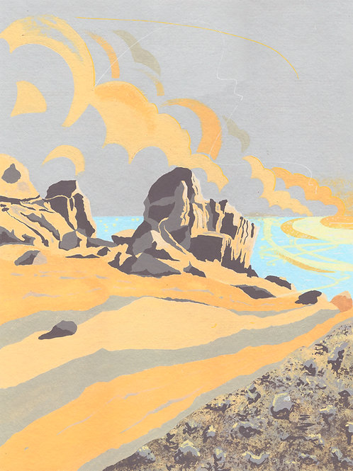 'Peninnis Head, Isles of Scilly' Limited Edition Giclee Print 30cm x 40cm