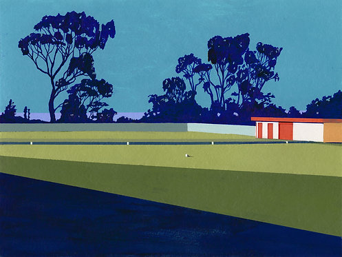 'Port Sorell Bowls Club' Limited Edition Giclee Print 30cm x 40cm