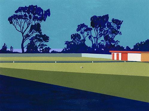 'Port Sorell Bowls Club' Limited Edition Giclee Print 30cm x 40cm