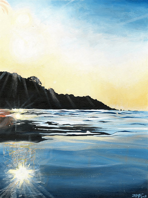 'Belcroute Bay' Limited Edition Giclee Print 26cm x 35cm