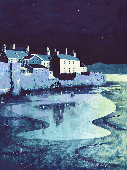 'Castletown, Isle of Man' Limited Edition Giclee Print 30cm x 40cm