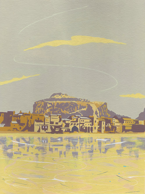 'Cefalu, Sicily' Limited Edition Giclee Print  30cm x 40cm