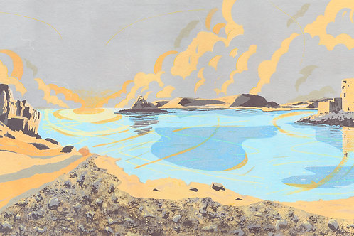 'Isles of Scilly' Limited Edition Giclee Print 90cm x 40cm