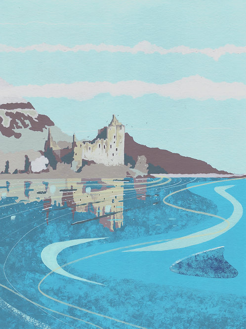 'Isle of Mull' Original painting. Acrylic on paper 30 x 40cm.