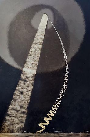Ex tenebris. Acrylic painting. Rian Hotton 2021.