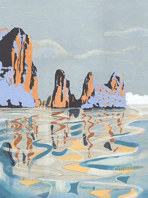 'Ha Long Bay, Vietnam' Limited Edition Giclee Print 30cm x 40cm