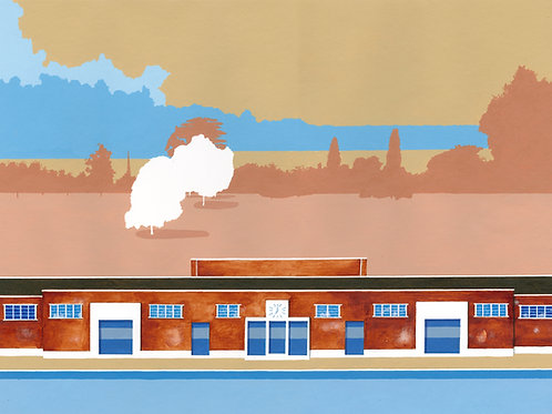 'Brockwell Lido' Limited Edition Giclee Print 43cm x 57cm