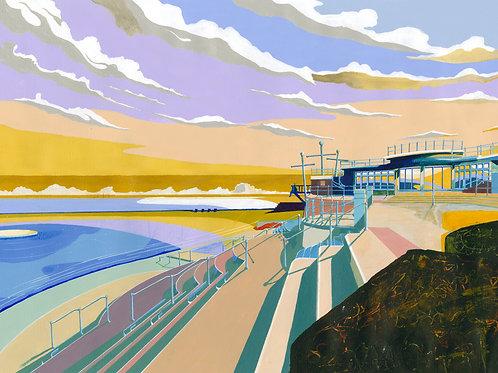 'Havre Des Pas Lido' Limited Edition Giclee Print 43cm x 57cm