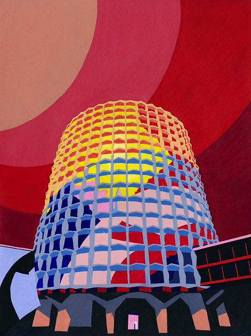 'Space House' Limited Edition Giclee Print 43cm x 57cm