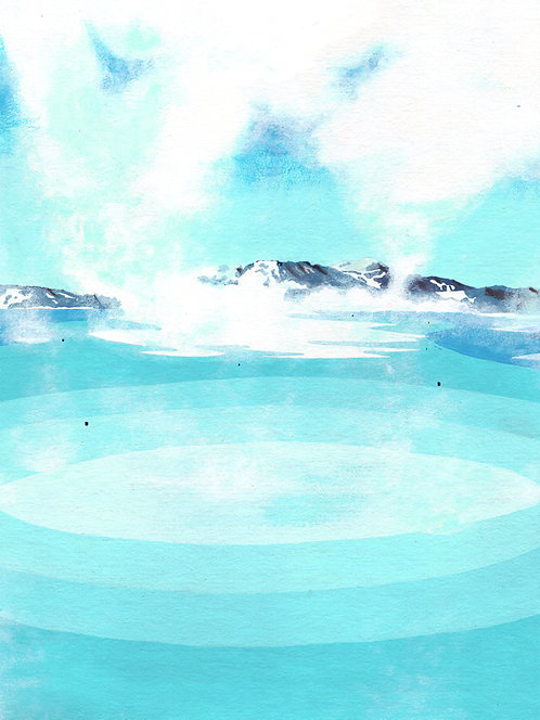 'Blue Lagoon II, Iceland' Limited Edition Giclee Print 30cm x 40cm