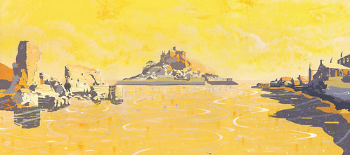 'British Isles I' Limited Edition Giclee Print 90cm x 40cm