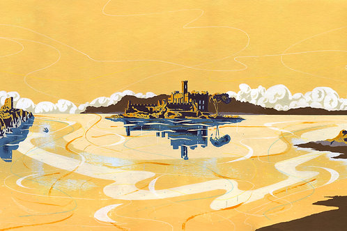 'Historic Ireland' Limited Edition Giclee Print 90cm x 40cm