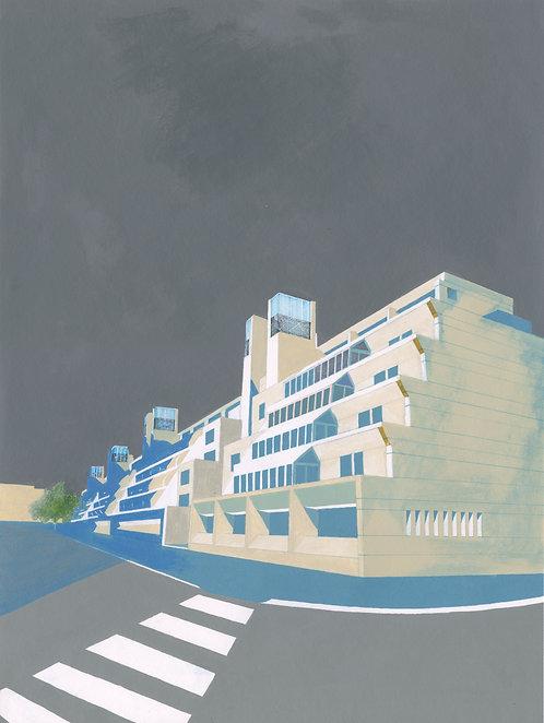 'Brunswick Centre' Limited Edition Giclee Print 30cm x 40cm