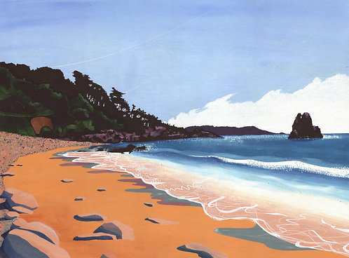'Beauport Bay' Limited Edition Giclee Print 26cm x 35cm