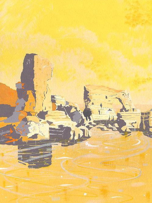 'Lizard Point, Cornwall' Limited Edition Giclee Print 30cm x 40cm