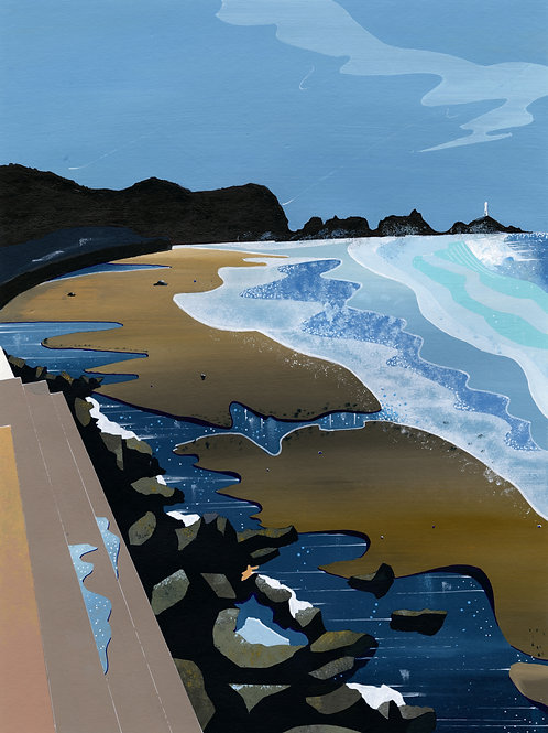 'St. Ouen's Bay' Limited Edition Giclee Print 30cm x 40cm