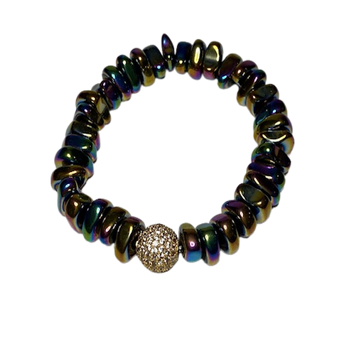 Multi Color Hematite Bracelet
