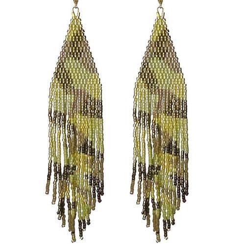 Camo Seed Bead Earrings