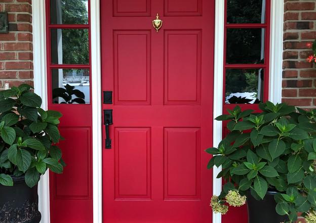 Red Solid Door
