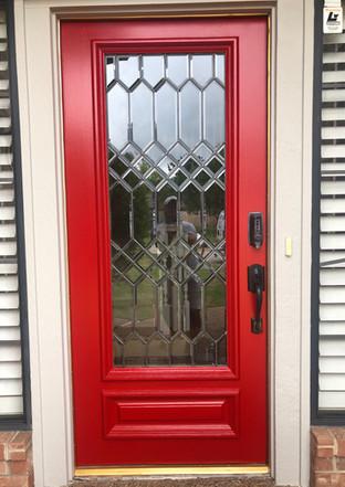 Red Windowed Door