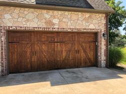 Stained Garage Door