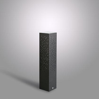 Невысокий уличный столбик Matrix GC-370 темно-серый с LED лампой в комплекте
