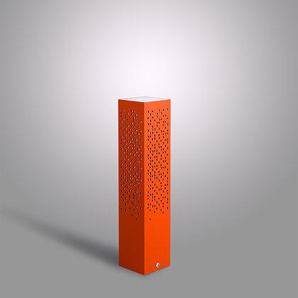 Невысокий уличный столбик Matrix OC-370 оранжевого цвета с Лэд лампой