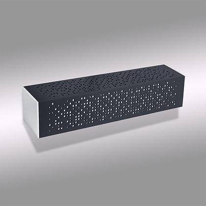 Светло-серый уличный настенный светодиодный светильник Matrix GW-370