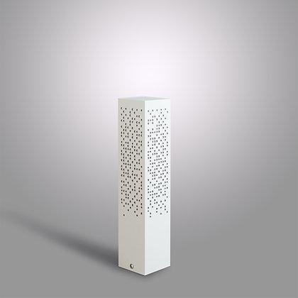 Невысокий уличный столбик Matrix SC-370 светло-серый с LED лампой 12 Вт