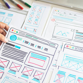 Website designer Creative planning appli
