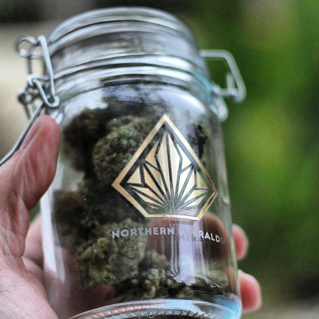 Glass Jar for Cannabis